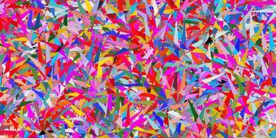 Plantilla de vector multicolor oscuro con cristales, triángulos.