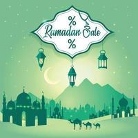 Ramadan Sale Background flyer design vector