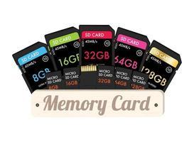 tarjeta de memoria sd y micro sd vector