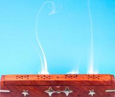 Smoke of Indian incense photo