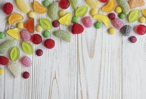 caramelos con espacio de copia foto