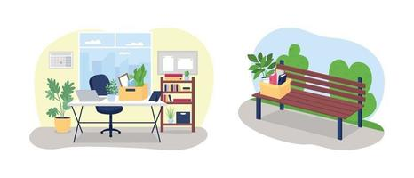 Fired from work concept vector