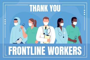 Medical frontline workers social media post mockup