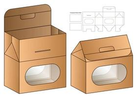 Box packaging die cut template design. 3d mock-up vector