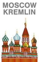 moscow kremlin vector on white background