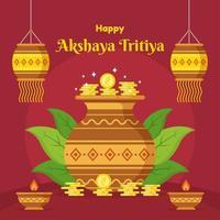 Happy Akshaya Tritiya Background vector