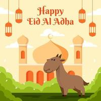 Eid Al Adha in Flat Design vector