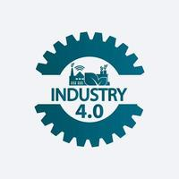 Industry 4.0 icon,logo factory,technology concept.vector illustration vector