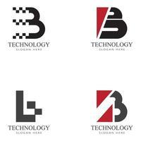 B Letter logo template vector illustration