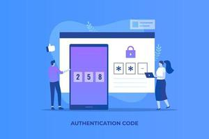 One-time password illustration concept
