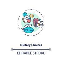 Dietary choices concept icon vector