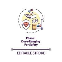 Dose-ranging for safety concept icon vector
