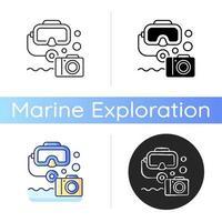 icono de fotografía submarina vector