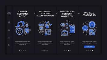 Smart content tips onboarding vector template