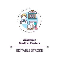 Academic medical centers concept icon vector