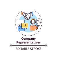 Company representatives concept icon vector
