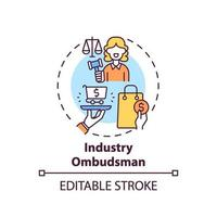 Industry ombudsman concept icon vector