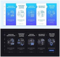 Future smart workplace onboarding vector template