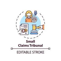 Small claims tribunal concept icon vector