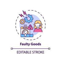 Faulty goods concept icon vector