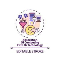 Competing firm and technology absorption concept icon vector