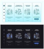 Future worksite building onboarding vector template