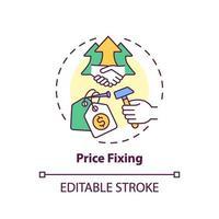 Price fixing concept icon vector