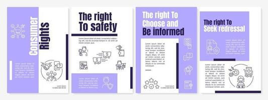 Consumer rights brochure template vector