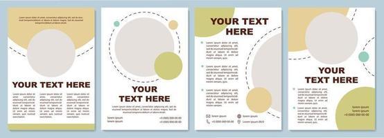 Blank geometric brochure template vector