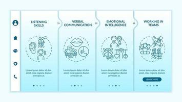 plantilla de vector de incorporación de categorías de autoevaluación de habilidades interpersonales