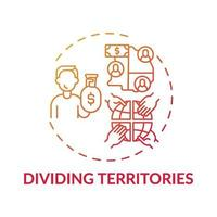 Dividing territories concept icon vector