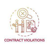 Contract violations concept icon vector