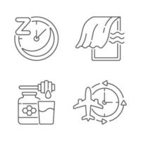Recommendations to improve sleep linear icons set vector