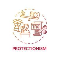 Protectionism concept icon vector