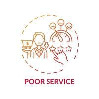 Poor service concept icon vector