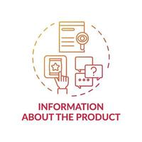 Information about product concept icon vector