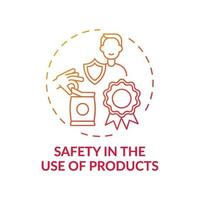 Safety in products use concept icon vector