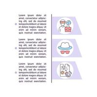Migrant worker deception concept line icons with text vector