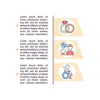 Migrant family needs support concept line icons with text vector