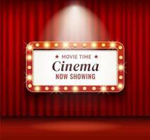 ilustraciones de vectores retro de marco de teatro de cine.