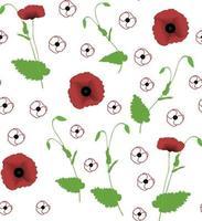 amapola de patrones sin fisuras. perfecto para papel tapiz, papel de regalo, fondo o tela. ilustración vectorial. vector