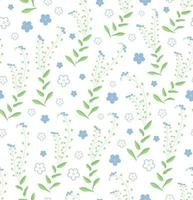 Seamless pattern of floral ornament with forget-me-not flowers. Perfect for wallpapers, greeting cards, backgrounds or wrapping paper. vector