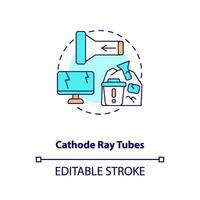 Icono de concepto de tubos de rayos catódicos vector