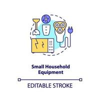 Small household equipment concept icon vector