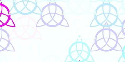 Light Pink, Blue vector texture with religion symbols.