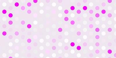 textura de vector púrpura claro con discos.