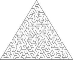 vector de fondo con un laberinto 3d triangular gris.
