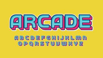 Blue and Pink 3D Cartoon Gaming Typography vector