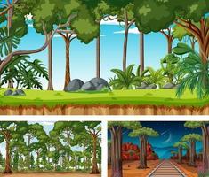 diferentes escenas horizontales de naturaleza. vector