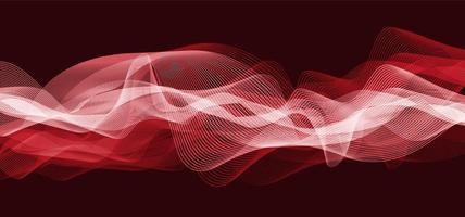 onda de sonido digital rojo oscuro escala de richter baja y alta sobre fondo negro, diagrama de onda de tecnología y terremoto y concepto de corazón en movimiento, diseño para estudio de música y ciencia, ilustración vectorial. vector